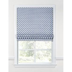 "Loom Decor Nautical Scallop Fabric Flat Roman Shade Length: 48"", Width: 30"""