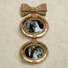 Mavita Bow Double Photo Frame Wall Accent