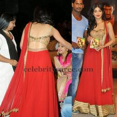 Sruthi Hassan in Backless Blouse | Saree Blouse Patterns