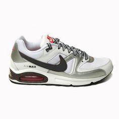 Nike Air Max Command White Dark Grey Mtllc Slvr Blk