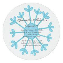 Snowflake Sweet 16 Birthday Invitation