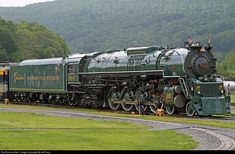 "C&O 614 is displayed at the C&O Railway Heritage Center in Clifton Forge, VA. It wears the logos of the Greenbrier Hotel, located nearby in White Sulphur Springs, and was painted and lettered for the proposed ""Greenbrier Presidential Express"" in 2011."