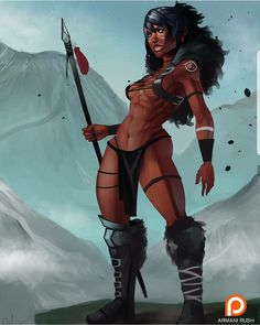 """Anatomy Drawing Female Swole Mountain"""" this was a gesture drawing i painted over, so uh.the name sucks! But yes if you like please support my patreon i really… - Sexy Black Art, Black Love Art, Black Girl Art, Art Girl, Fantasy Women, Fantasy Girl, African American Art, African Art, Jhin League Of Legends"""