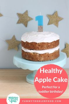 First birthdays are so fun and bittersweet to celebrate, and this Healthy Apple Cake is one of my very favorite birthday cakes for kids. It's SO easy to make, can be made ahead, and has a tangy yogurt frosting. Birthday Party Desserts, First Birthday Cakes, Round Cake Pans, Round Cakes, Toddler Meals, Kids Meals, Toddler Food, Healthy Apple Cake, Apple Birthday