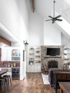Vaulted Ceilings With Shiplap & Exposed Beams Shiplap Ceiling, Vaulted Ceilings, Italian Farmhouse, Granite Bay, Boutique Interior, Exposed Beams, Vaulting, Life Is Beautiful, Interior Decorating