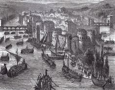 """The Siege of Paris. The Viking forces were led by a chieftain named """"Reginherus"""", or Ragnar, traditionally identified as the legendary Ragnar Lodbrok. Ragnar's fleet of 120 Viking ships, carrying thousands of men, entered the Seine in March and sailed up the river. The Vikings reached Paris at during Easter. After plundering and occupying the city, the Vikings finally withdrew after receiving a ransom payment of 7,000 French livres (2,570 kilograms or 5,670 pounds) of silver and gold from…"""