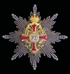 Franz Joseph Order, Commander's breast star, D. 78.5mm., Vinc Mayer's Sohne, Vienna, bestowed upon D. Antonio Maria de Lancastre, Physician to both King Luis and Queen Maria Pia, and to King Carlos and Queen Amélie, of Portugal.