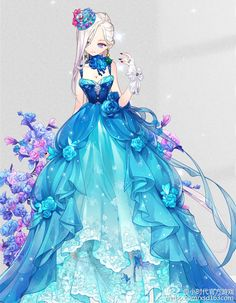 Image result for anime girl in a dress