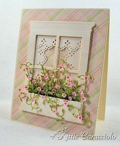 memory box dies card-making by anastasia Memory Box Cards, Memory Box Dies, Paper Cards, Diy Cards, Window Cards, Pretty Cards, Flower Cards, Paper Flowers, Creative Cards