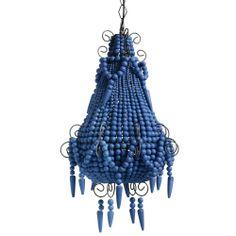 Royal Blue Beaded Chandelier