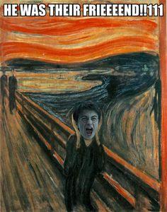 25 HILARIOUS Harry Potter Comics! | SMOSH. This particular van Gogh painting (minus Dan's face) always gives me the creeps