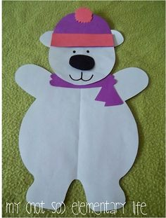 This polar bear craft is included in a larger polar bear unit that you can use during the winter months to teach your students all about polar bears.