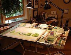 Watercolor Studio Space #watercolorarts