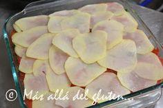"""Más allá del gluten...: """"Lasaña"""" de Papas y Verduras (Receta GFCFSF, Vegana) Salsa, Vegan Vegetarian, Food And Drink, Menu, Vegetables, Gluten, Desserts, Recipes, Natural"""