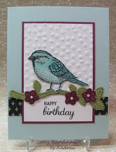 ** Happy birthday ** - handmade card using Best Birds by Stampin' Up! Birthday Cards For Women, Happy Birthday Cards, Birthday Greetings, Birthday Images, Birthday Quotes, Birthday Wishes, Kirigami, Best Wishes Card, Masculine Birthday Cards