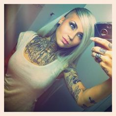 Obessed with Miss Sara Fabel, bomb-ass tattoo artist and stunningly beautiful.