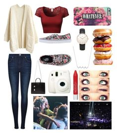 """~1D concert~"" by hailey1011 ❤ liked on Polyvore featuring Vans, Dr. Denim, Topshop, KC Designs, Isadora and Yves Saint Laurent"
