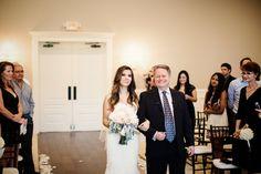 Walking Down The Aisle | The Milestone Aubrey Mansion | Natalie Gore and James Casey Wedding Day | Stella York Wedding Dress | Father Daughter