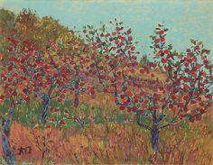 Daiwon LEE(Korean: 이대원, 1921 - ), Fall Orchard.