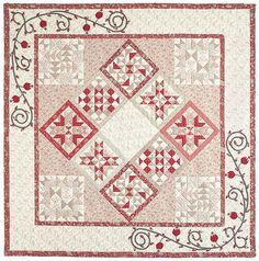 Free pattern |  Sugar Roses by Susan Guzman for McCall's Quilting