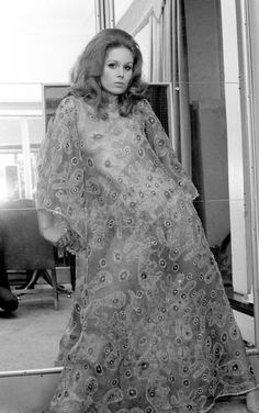 Joanna Lumley models a sheer dress