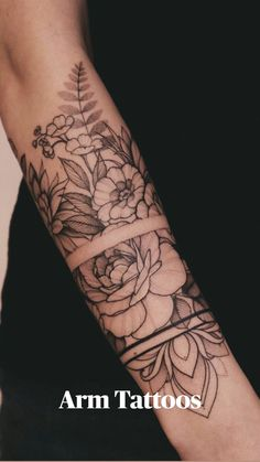 Half Sleeve Tattoos Forearm, Forearm Band Tattoos, Forarm Tattoos, Sexy Tattoos, Hand Tattoos, Half Sleeve Tattoos Nature, Half Sleeve Tattoo Upper Arm, Sleeve Tattoo Women, Half Sleeve Tattoos For Women