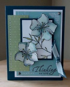 thinking of you using SU Embrace Life stamp set Spellbinders Cards, Stampin Up Cards, Asian Cards, Scrapbook Cards, Scrapbooking Ideas, Get Well Cards, Cards For Friends, Sympathy Cards, Paper Cards
