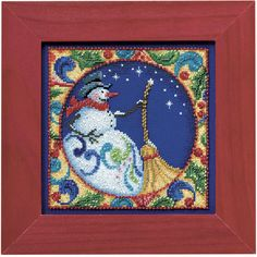 Snowman - Cross Stitch, Needlepoint, Embroidery Kits – Tools and Supplies