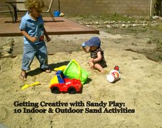 The Good Long Road: Ten for Tuesday: Summertime Sandy Play-Indoor and Outdoor Ideas for Sand Play & DIY Sandboxes on any budget
