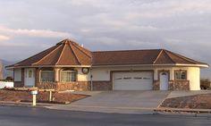 Modern Roof Design, House Roof Design, Village House Design, Unique House Design, Round House Plans, My House Plans, Modern House Plans, Small House Plans, Hexagon House