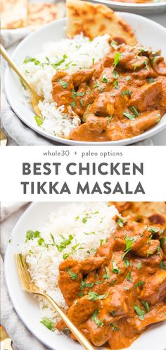 Best Chicken Tikka Masala (Restaurant Style) This is the best chicken tikka masala recipe ever, and it's so rich and perfectly spiced. A double caramelization process produces a chicken tikka masala that tastes just like the best restaurant-style dish. Chicken Tikka Masala Rezept, Best Chicken Tikka Masala Recipe, Poulet Tikka Masala, Pollo Tikka, Recipe For Tikka Masala, Indian Chicken Masala, Chicken Masala Curry, Chicken Thights Recipes, Healthy Snack Recipes