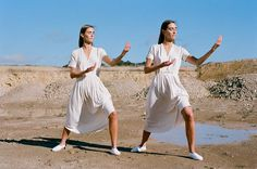 Barcelona based label Paloma Wool have added some lovely new pieces to their collection, along with a KILLER lookbook. girls in rad threads doing Tai Chi, what's not to love? see my previous posts about Paloma Wool here. Subscribe to posts via Email