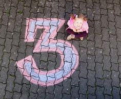 Want to do this on my driveway.  Coordinate colors. . . her faves. . .pink and purple