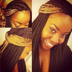 43 Cool Blonde Box Braids Hairstyles to Try - Hairstyles Trends Purple Box Braids, Colored Box Braids, Blonde Box Braids, Short Box Braids, Box Braids Hairstyles, African Hairstyles, Cool Hairstyles, Protective Hairstyles, Protective Styles