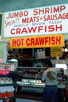One Stop Shopping.  This is one thing I miss living in southern Louisiana.....the Cajun food!!!