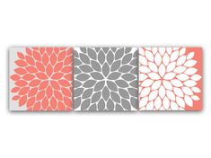 Home Decor Wall Art Coral Bedroom Decor