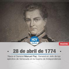 #UnDíaComoHoy nace Manuel Piar, General en Jefe de los Ejércitos de Venezuela en la Guerra de Independencia.