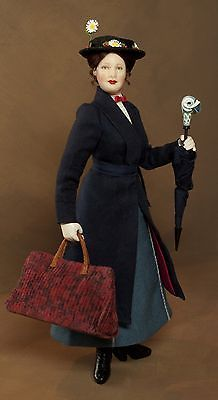 1:12 scale Mary Poppins doll by Lisa Johnson-Richards