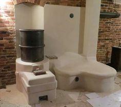 Cob finished rocket stove
