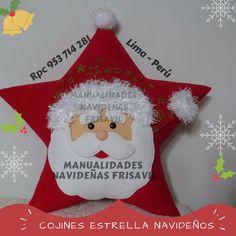 Cojin Estrella Noel Xmas Crafts, Decor Crafts, Home Decor, Christmas Decorations, Christmas Ornaments, Holiday Decor, Facebook Sign Up, Christmas Time, Christmas Stockings
