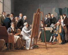 CAPET, Marie-Gabrielle  French painter (b. 1761, Lyon, d. 1818, Paris)Studio Scene  1808