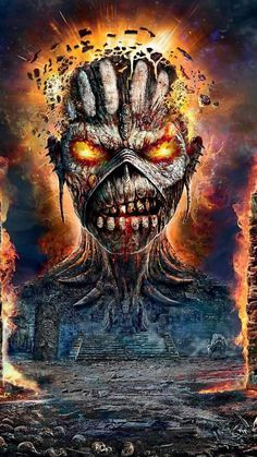 Eddie wallpaper by georgekev - - Free on ZEDGE™ Iron Maiden Album Covers, Iron Maiden Albums, Iron Maiden Powerslave, Iron Maiden Band, Eddie Iron Maiden, Heavy Metal Art, Heavy Metal Bands, Music Artwork, Metal Artwork