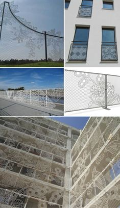 Design house, Demakersvan, took inspiration from Dutch lace makers to turn the humble cyclone wire fence into works of art.