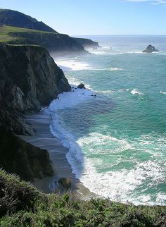 Pacific Coast Highway, south of Monterey, California