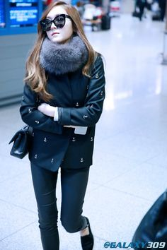 Official Korean Fashion Blog: Jessica Airport Fashion 2015
