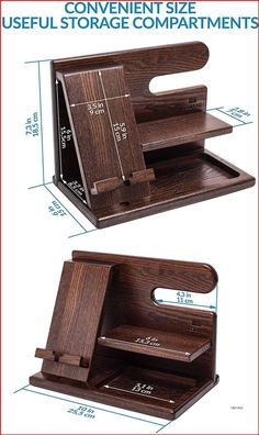 Wood Phone Docking Station Ash Key Holder Wallet Stand Watch Organizer Men Gift Husband Wife Anniversary Dad Birthday Nightstand Purse Father Graduation Male Travel Idea Gadgets Solid: Amazon.com.au: Electronics