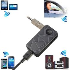Newest 3.5mm Wireless Bluetooth V4.1 Car Home AUX Stereo Audio Music Receiver Handsfree Bluetooth Music Receiver Black Color. I have this in my car. When it works it's great, but it's also a little annoying because each time the power is interrupted (ex: turn your car off), it refuses to automatically re-pair with your device. So you have to mess with it until it finally does. I would rather have one that pairs automatically.