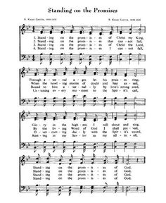 Hymn:  Standing on the Promises