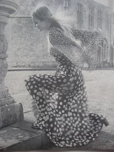Ossie Clark dress in Celia Birtwell Print for Quorum by Norman Parkinson 70s Fashion, Fashion Dresses, Vintage Fashion, Vintage Style, Norman, Barbara Hulanicki, Celia Birtwell, Ossie Clark, English Fashion