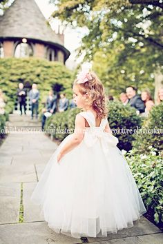 96e4ef90a9 Ankle Length Flower Girl Dress by OliviaKateCouture on Etsy